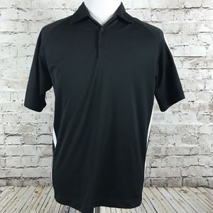 Nike Golf Polo Shirt Size M Fit Dry Black Men's